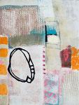 Komposition mit Kreisform, 60 x 80 cm, 2016, Acryl/Pigment