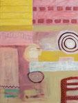 Kompositon mit Kreisform, 60 x 80 cm, 2016, Acryl