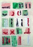 Ein beschriebenes Blatt, Collage, 50x70cm, 460,00 Euro