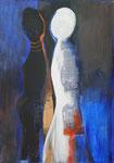 """""""Dialog"""", Acryl, 60x120 cm, verkauft"""
