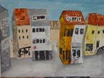 Schillerplatz Ost, Acryl, 80x60cm, verkauft