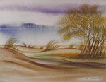 Bäume im Wind, Aquarell 1983, 30x23cm, 700,00 Euro