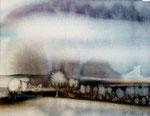 Baumlandschaft, Aquarell 1986, 23x18cm, 380,00 Euro