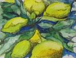 Zitronen, Aquarell-Tusche, 47x35cm, gerahmt, 340,00 Euro