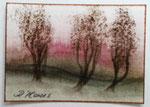 3 Bäume, 3,5x2,5cm, gerahmt, 50,00 Euro