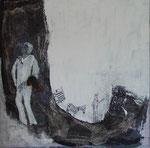 blanke swart dans, Acryl, 80x80cm, 540,00 Euro