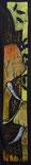 Holzschnitt auf Viskose gedruckt, 50x2600cm, 860,00 Euro