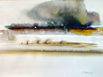 Wüstensturm, Aquarell 1986, 39x30cm, 1100,00 Euro