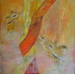 Giraffen - rete mirabile, Acryl, 80x80cm, 640,00 Euro