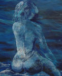 Lady blue, 34x54cm, Aquarell, 680,00 Euro