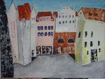 Schillerplatz West, Acryl, 80x60cm, verkauft