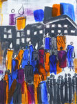 Begegnungen - Leben, Acryl, 60x80cm, verkauft