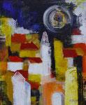 Wolkenfänger, Acryl, 59x76cm, gerahmt, 860,00 Euro