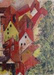 Über den Dächern m.B., Acryl, 65x85cm, verkauft