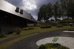 Die Unterbelichtung ist wichtig für die Details in der Wolkenstimmung und die Zeichnung im Kiesbett