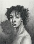 """""""Curious"""", Kohle auf Papier, 10 x 12,5 cm, 150 Euro"""