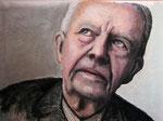 """""""Jimmy Carter"""", Tinte, Kohle und Pastell auf Pappe, 50 x 40 cm, 200 Euro"""