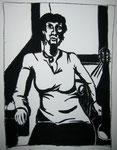 """""""Geduldig"""", Kohle auf Papier, 30 x 40 cm, 80 Euro"""