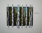 """""""Ich lebe mein Leben"""", Acryl, Kohle, Graphit, Pastell, 51 x 43 cm, verkauft"""