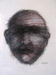 """""""Crossed out"""", Conté und Kohle auf Papier, 25 x 35 cm, verkauft"""
