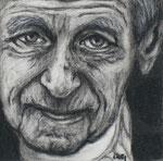 """""""Long Life"""", Kohle auf Papier, 9 x 9 cm, verkauft"""