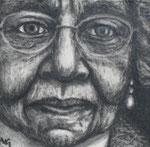 """In her memory"", Kohle auf Papier, 9 x 9 cm, 150 Euro"