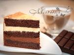 Saftige Schokoladentorte mit Vanille und Schoko  Frischkäse-Sahne-Creme