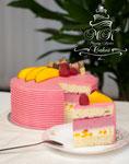 Mango-Himbeeren Torte