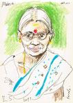 Meena, 15X21cm, Artist Pen, Buntstift auf Papier
