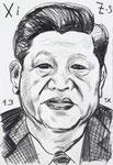 Xi, 8 1/2x 11 1/2  (22x29cm)