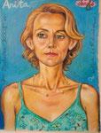 Anita, 48X63cm, Ölpastell auf Ingres Büttenpapier