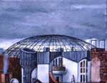 Der Himmel über Berlin,  24X30cm,  Acryl auf Leinwand, 1998