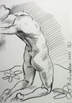 30X40cm, Zeichenstift auf Papier