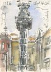 In Lissabon, 10X15cm, Aquarell, Tintenroller auf Papier
