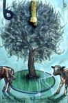 N31. Vision eines Kalbes am Baum mit Hand
