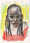 Sephora, La Réunion, 14X21cm, Artist Pen, Buntstift auf  Papier