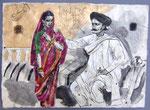 Das Paar aus Batavia,  50X75cm, Tusche auf Himalayapapier, 1998