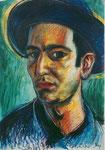 Autoporträt, 70X90cm, Ölpastell auf Papier