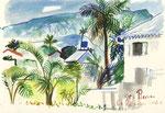 St. Pierre, La Réunion, 20X30cm, Aquarell, Buntstift auf  Papier