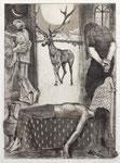 """Illustration für den Roman von Otar Chiladze """"Jeder, der mich findet..."""" Radierung 32X46cm 1988"""