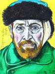 Defoe as Van Gogh, 8 1/2x 11 1/2  (22x29cm)