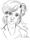 Diana, 8 1/2x 11 1/2  (22x29cm)