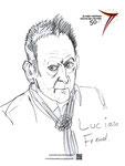 Lucien Freud, 8 1/2x 11 1/2  (22x29cm)