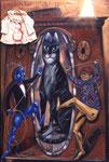 N10. Kaukasische Katze mit gutmutigem Kapitalist, Kommunist, Schrank und Kleid
