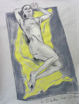 Liegende Akt,  48X63cm,  Zeichenkreide auf Ingres Büttenpapier