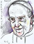 Papa Francisco, 8 1/2x 11 1/2  (22x29cm)