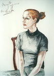 Annegret, 50X70cm, Farbstift auf Papier