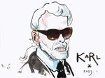 Karl Lagerfeld, 8 1/2x 11 1/2  (22x29cm)