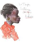 Creolin von La Réunion, 17X23cm, Artist Pen, Buntstift auf  Papier