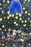 N11. Erscheinung eines blauen schönen Löwens in Zitronen mit Lesben